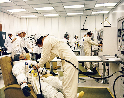 Apollo 12 Astronauts Spacesuits Photo Print