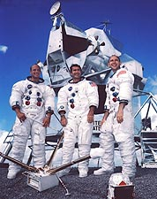 Apollo 12 Crew Portrait & Lunar Module NASA Photo Print for Sale