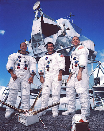 Apollo 12 Crew Portrait & Lunar Module NASA Photo Print
