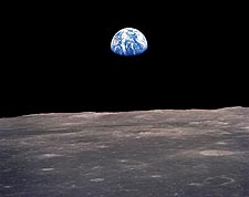 Apollo 12 Earthrise and Lunar Horizon Photo Print for Sale
