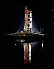 Apollo 12 Rocket on Launchpad Photo Print for Sale