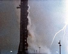 Apollo 12 Struck by Lightning Bolt NASA Photo Print for Sale