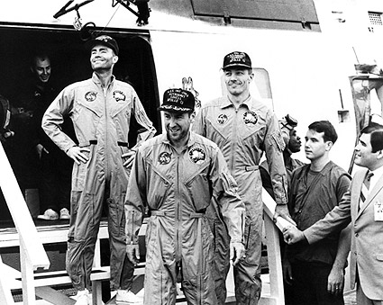 Apollo 13 Crew Arrives Aboard USS Iwo Jima Photo Print