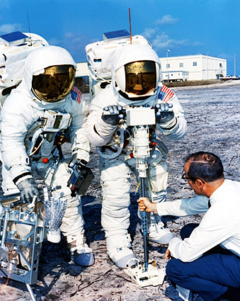 Apollo 13 Fred Haise and Jim Lovell Training Exercise Photo Print