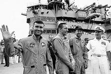 Apollo 13 Lovell Swigert Haise USS Iwo Jima Photo Print
