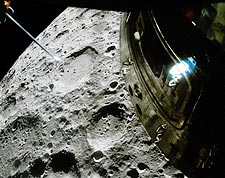 Apollo 13 Lunar Module View of Moon Surface Photo Print for Sale
