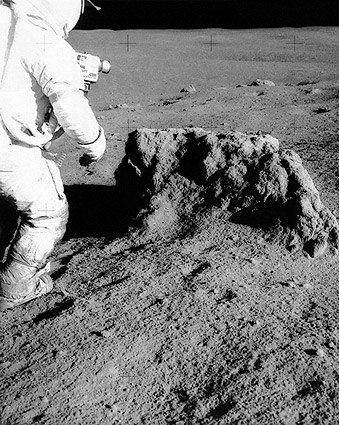 Apollo 14 Alan Shepard & Boulder on Moon Photo Print