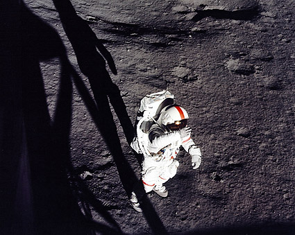 Apollo 14 Astronaut Alan Shepard EVA Moon Photo Print