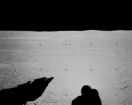 Apollo 14 Astronaut Alan Shepard Shadow on Moon Photo Print