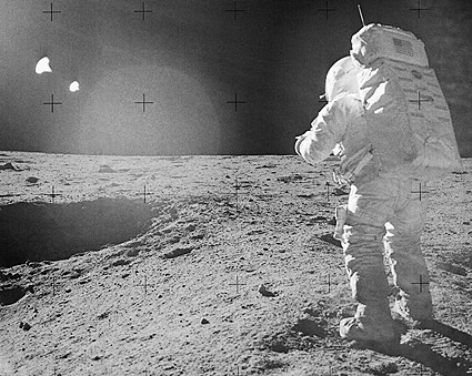 Apollo 14 Astronaut Edgar Mitchell on Moon Photo Print