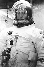 NASA Apollo 14 Astronaut Stuart Roosa in Space Suit Photo Print for Sale