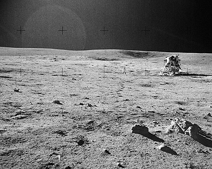 Apollo 14 Edgar Mitchell & LM on Moon NASA Photo Print