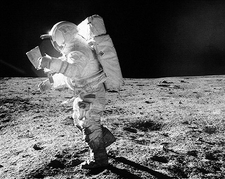 Apollo 14 Edgar Mitchell Lost in Space Photo Print