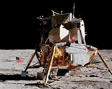 Apollo 14 Lunar Module on the Moon Photo Print for Sale