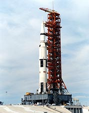 Apollo 14 Saturn V Rocket Daytime Photo Print for Sale