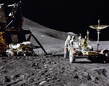 Apollo 15 James Irwin Loads Lunar Rover Photo Print for Sale
