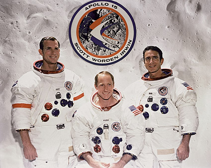 Apollo 15 Scott, Worden & Irwin Portrait Photo Print