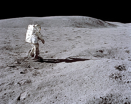 Apollo 16 Astronaut Charles Duke on Moon Photo Print