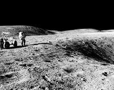 Apollo 16 Astronaut John Young & Rover on Moon Photo Print for Sale