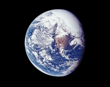 Apollo 16 Earth from Space Photo Print