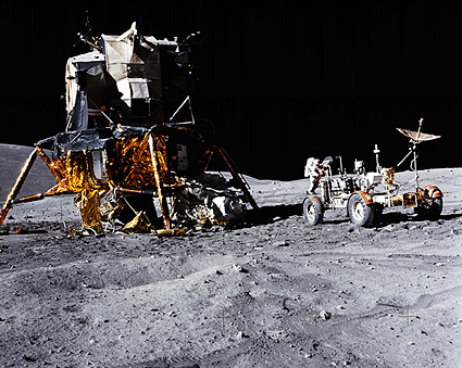 Apollo 16 John Young Lunar Module & Rover Photo Print