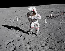 Apollo 16 John Young on the Moon Photo Print for Sale
