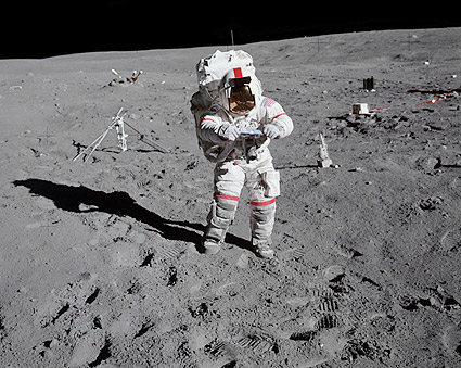 Apollo 16 John Young on the Moon Photo Print