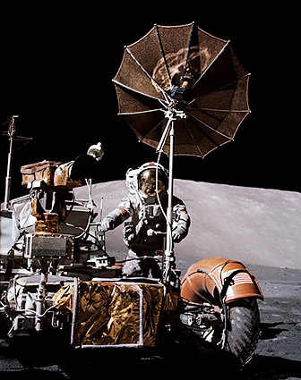 Apollo 17 Astronaut Eugene Cernan on Moon Photo Print