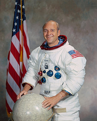 Apollo 17 Astronaut Ronald Evans Portrait Photo Print