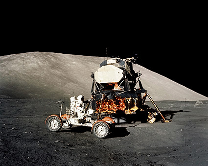 Apollo 17 Eugene Cernan LRV & LEM NASA Photo Print