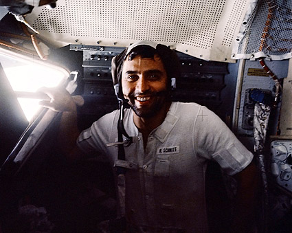 Apollo 17 Harrison Schmitt in Lunar Module Photo Print