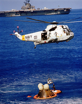 Apollo 17 Jack Schmitt Helicopter Recovery Photo Print