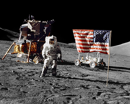 Apollo 17 Jack Schmitt on Moon NASA Photo Print