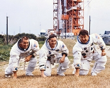 Apollo 7 Flight Crew Candid Group Portrait  Photo Print