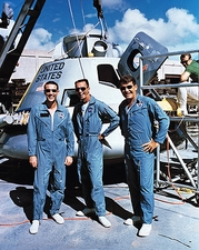 Apollo 7 Schirra, Eisele & Cunningham with Lunar Module Photo Print
