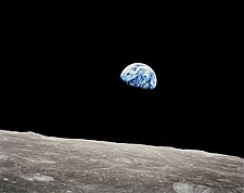 Apollo 8 Earthrise from the Moon Photo Print for Sale