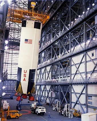 Apollo 8 Saturn V Rocket Construction Photo Print
