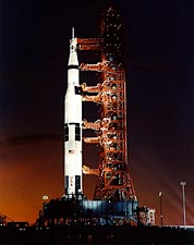 Apollo 8 Saturn V Rocket Launch NASA Photo Print for Sale