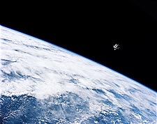 Apollo 9 Lunar Module Spider Earth Orbit NASA Photo Print for Sale