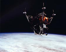 NASA Apollo 9 Lunar Module 'Spider' in Earth Orbit  Photo Print for Sale