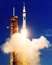 Apollo Soyuz Saturn 1B Rocket Launch NASA Photo Print