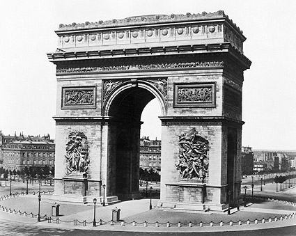 Arc de Triomphe Paris, France 1850 Photo Print