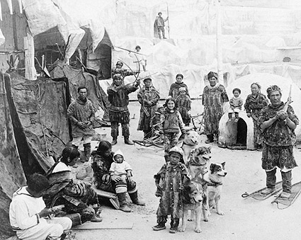 Arctic Village Eskimos St. Louis Fair 1904 Photo Print