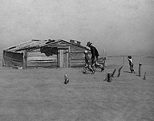 Arthur Rothstein Farmers in Dust Storm FSA Photo Print for Sale