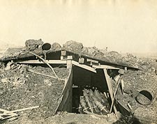 Artillery Shells in Ammunition Dugout WWI  Photo Print for Sale