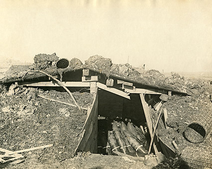 Artillery Shells in Ammunition Dugout WWI  Photo Print