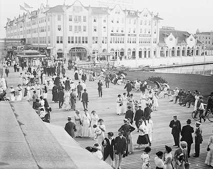 Asbury Park Boardwalk Crowds NJ Early 1900s Photo Print