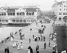 Asbury Park Boardwalk Seaside Resort 1900s Photo Print for Sale