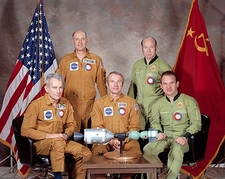 ASTP Apollo Soyuz Astronauts Group Portrait Photo Print