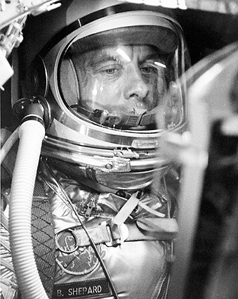 Astronaut Alan Shepard in Mercury Capsule Photo Print